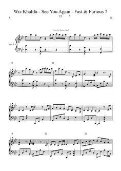 See you again - Wiz Khalifa (Fast&Furious7)   MuseScore