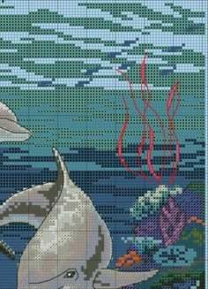 Sin nombre Easy Cross Stitch Patterns, Simple Cross Stitch, Cross Stitch Rose, Cross Stitch Charts, Cross Stitching, Cross Stitch Embroidery, Embroidery Patterns, Cross Stitch Landscape, Cross Stitch Needles