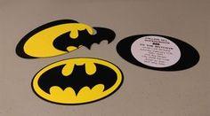DIY Batman Invitations, Super Hero Batman Invitation Set, Yellow and Black Batman Theme Invitations, Build Your Own Invitations by MyThreeSonsByKristin on Etsy https://www.etsy.com/listing/470831317/diy-batman-invitations-super-hero-batman