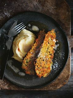 Eggplant Schnitzels With Creamy Mash And Burnt Butter | Donna Hay
