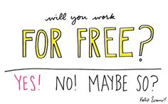 """#GraphicDesign  """"how do you say """"no"""" to friends asking you to work for free?"""""""