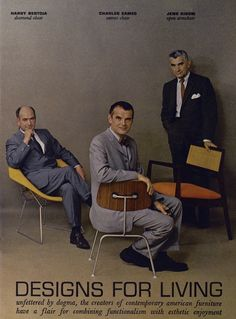 modern furniture designers, from a 1961 Playboy article