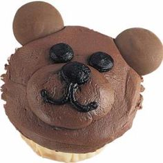 Bear cupcake for Allie's class
