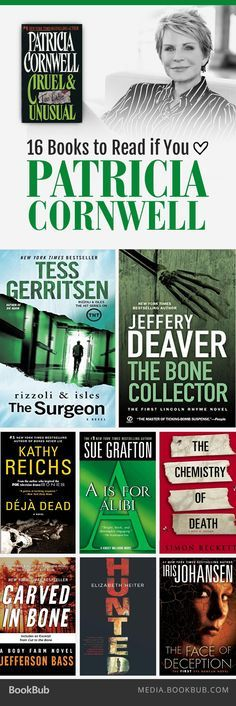16 books to read if you love Patricia Cornwell, including reads from Tess Gerritsen and James Patterson. I Love Books, Good Books, Books To Read, My Books, Free Books, I Love Reading, Reading Lists, Reading Room, Patricia Cornwell Books