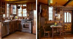 I love this one, a tiny Swedish guest cabin. Completely rustic, but with a complete kitchen! Dining Room Fireplace, Tiny House Swoon, Guest Cabin, Country Dining Rooms, Small House Decorating, Cabin Kitchens, Earth Homes, Cabins And Cottages, Tiny Spaces