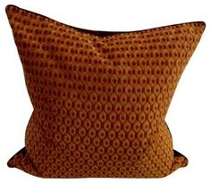 Vintage 1940's Turkish honeycomb fabric, chocolate suede, crushed velvet back, self welt, hand-filled with down, and invisible zipper closure. $375 #shop #luxury #pillows #buy #interiordesign #lux