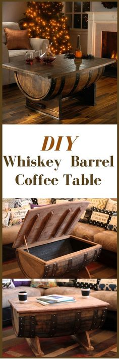 Plans of Woodworking Diy Projects - Creative Beginners Friendly Woodworking DIY Plans At Your Fingertips With Project Ideas, Tips and Tricks Get A Lifetime Of Project Ideas & Inspiration! Asian Home Decor, Diy Home Decor, Whiskey Barrel Coffee Table, Whiskey Barrels, Coffee Tables, Man Cave Coffee Table, Wine Barrel Bar, Woodworking Projects Diy, Teds Woodworking