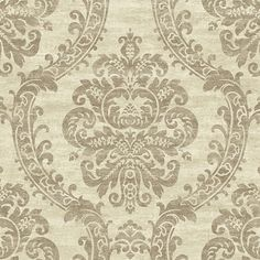 Grand Palais Wallpaper in Off White by Ronald Redding for York Wallcoverings