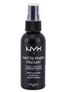 NYX Matte Finish Professional Make-Up Setting Spray - ellemag Nyx Setting Spray, Best Makeup Setting Spray, Best Drugstore Setting Spray, Makeup Fixing Spray, Makeup Spray, Drugstore Makeup Dupes, Nyx Makeup, Mauve Makeup, Beauty Makeup