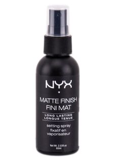 THEY SAY: Demand Perfection! For that fresh make up look that lasts, NYX Makeup Setting Sprays are lightweight and comfortable while working hard to make sure your makeup stays put WE SAY: Compared to other makeup setting sprays, I wouldn't say this is the best I've ever used. Don't get me wrong, it feels really nice and light on my face and it did mattify my makeup (a look I love) but I don't think it made my