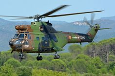 French Army SA330 Puma helicopter at ALAT 60th anniversary Airshow, Le Luc 2014…
