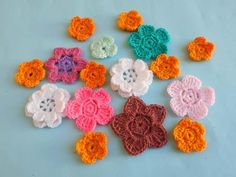"<strong>From the Designer: </strong>""Spring season is starting and the small cute flowers blooming everywhere butterflies also surrounding in the garden and attractive the small flowers too. The colorful flowers attract everyone to their smell and want a lot of time to spend in the garden. I also take my yarn and crochet hook and making there's making some flower design. I bring for you a bunch of flower design and verity of small cu..."