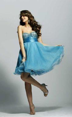 poofy short prom dress