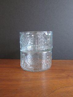 Vintage Iittala Nuutajarvi Finland Flora Glass by ModernSquirrel, $38.00