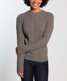 Another great find on #zulily! Squirrel Cable Knit Wool-Blend Sweater #zulilyfinds