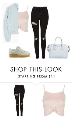"""""""bomber blue"""" by itgirlcarlota ❤ liked on Polyvore featuring Topshop and Givenchy"""
