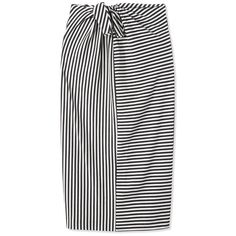 Tibi Ren Stripe Tie Knit Skirt ($275) ❤ liked on Polyvore