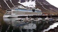 Einmal Spitzbergen und zurück | AIDA Luna im Hafen von Ísafjörður auf Island (c) Frank Koebsch
