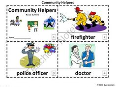 Community Helpers 2 Emergent Readers from Sue Summers on TeachersNotebook.com -  (6 pages)  - 1 with text and images, 1 with text only so students can sketch and create their own versions of the booklets.