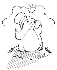 ground hog day coloring pages