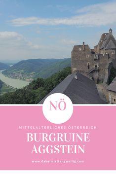 Eine der schönsten Burgruinen - Hoch über der Donau, mitten in der Wachau. Movies, Movie Posters, Ruins, Castles, Road Trip Destinations, Middle Ages, History, 2016 Movies, Film Poster