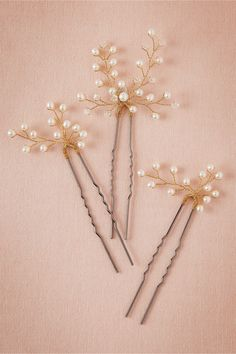 Edo Hair Pins (3) in Bridal Party & Guests Mothers Accessories at BHLDN For $150.00 I think I could do it cheaper!!
