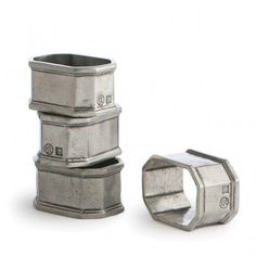 Set a striking table with these solid pewter napkin rings from Arte Italica. Distressed and hand-finished for a rich patina.