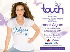 Come out and meet Alyssa at Westfield Culver City Mall on Saturday, May 5th!