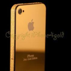 iPhone 4 24ct Gold with Swarovski Stones