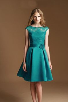 STOCK New Teal Knee Length Formal Ball Party Cocktail Evening Bridesmaid Dress