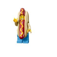 Hot Dog Man – Series 13 All Minifigure packets will be opened to guarantee the correct Minifigure – Comes complete with opened packets leaflet, accessories and Unique code to unlock this minifigure in the LEGO Minifigures Online game Hot Dog Suit, Legos, Hot Dogs, Lego Pictures, Lego Boards, Lego People, Lego Man, Lego Minifigs, Lego Building