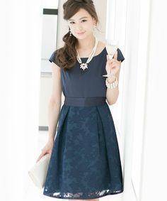 9ea3f44eb899c PourVous(プールヴー)の「\西山茉希さん着用/リボンスリーブビジューワンピース・ドレス(ドレス)」 - WEAR