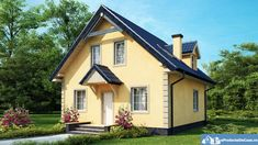 Proiecte de case cu mansarda cu patru camere - spatiu indestulator Small Dream Homes, My Dream Home, Cute Cottage, Favorite Paint Colors, Tiny Spaces, Cottage Homes, House Painting, Home Fashion, Tiny House