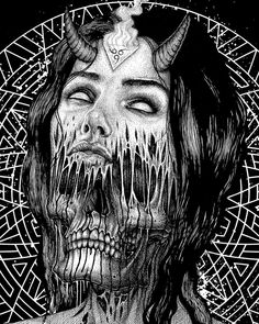 Paul Jackson Artist — Here is an oldie that some people seem to like - I. Arte Horror, Horror Art, Paul Jackson Artist, Art Sketches, Art Drawings, Crazy Drawings, Satanic Art, Demon Art, Macabre Art