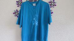 Glamour  Blue  Satin Print   Top Size  16-18