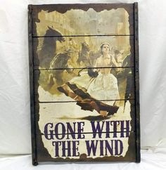 shopgoodwill.com: 1950s Gone With The Wind Raisen Tray Poster Decor
