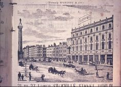 This is the image of Clery & Co, Warehousemen and General Drapers, Lower Sackville Street. From the Dixon Slides Collection in Dublin City Library & Archive (c. Dublin Street, Dublin City, Irish Independence, Day Old Chicks, City Library, Photo Engraving, Old Photos, Paris Skyline, City Photo