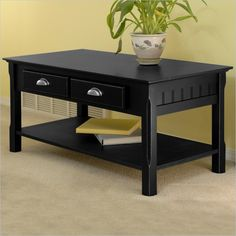 Sutton Black Coffee Table BLK 01 KD U Products