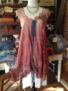 Luv Lucy Crochet Tunic Dress Lucy's Rosewood Tunic