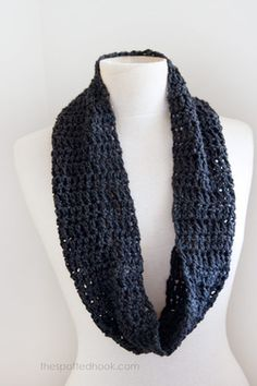 Crochet infinity scarf pattern at The Spotted Hook
