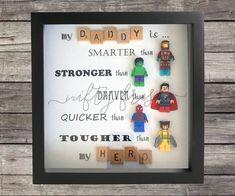 Umrahmt von Superhelden Lego kompatibel Minifigur-Wand-Display