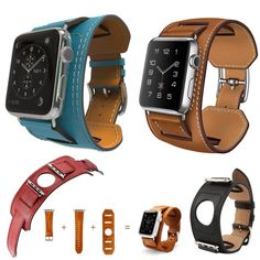 3 in1 Cuff Leather Strap Cuff Bracelet Watch Band Strap For Apple Watch iWatch #Unbranded