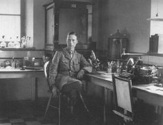 Capt. F. W. Twort Royal Army Medical Corps at the Base laboratory in Salonika, Greece, in 1916. Not happy - he had warned the authorities that dysentery would be rife - and offered a solution with his discovery - and even volunteered, but the army didn't allow him resources.  HOWEVER, he DID give talks - to RAMC colleagues as well as some Canadians stationed there if I remember rightly - and then went back home appalled by the way he and his expertise had been shabbily treated.