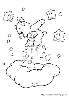 Care Bears Coloring Pictures Coloring Pages For Kids . Teddy Bear Coloring Pages, Cute Coloring Pages, Cartoon Coloring Pages, Disney Coloring Pages, Coloring Pages To Print, Printable Coloring Pages, Coloring Sheets, Coloring Pages For Kids, Adult Coloring