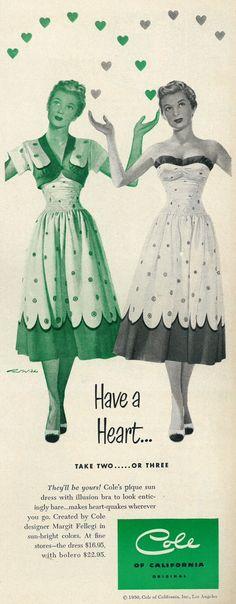 1950 Cole of California Sun Dresses advertisement