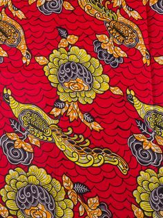 African Clothing Material Super Deluxe Wax Peacock Floral Design Party sw945015