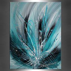 Décorez votre maison et bureau avec le œuvre dart originale sur toile. Cest un de la meilleure qualité huile peinture abstraite faite par Maitreyii Fine Art. Autres tableaux disponibles ici : http://www.etsy.com/shop/largeartwork ========================================================= TITRE : La sagesse Turquoise TAILLE : 40 large, 30 « haut, 3/4 « Deep (toile tendue prêt à accrocher) ============================================================ ~ ~ COULEUR : turquoise, vert, noir, Tu...