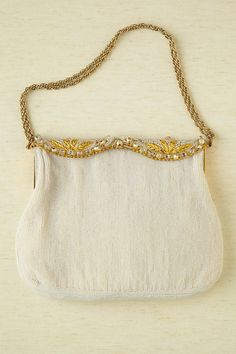 Vintage 1950s Seed Pearl Beaded Purse Made by RevivalVintageBoutiq, $185.00