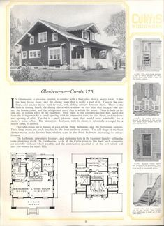 House Plans With Pictures, Vintage House Plans, Craftsman House Plans, House Floor Plans, Old Houses, The Borrowers, New Homes, Exterior, How To Plan