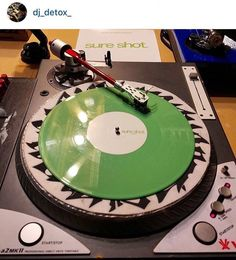 """Yo @dj_detox_  with the """"Great White Buffalo"""" turntable. The Vestax PDX-a2 MKII. Buddy you win tonight. Congrats on cutting on that turntable. Having Sure Shot on it is a dream come true.  #txscratchleague #turntablism #turntablist #practiceyocuts #vestax TexasScratchLeague.com by txscratchleague http://ift.tt/1HNGVsC"""